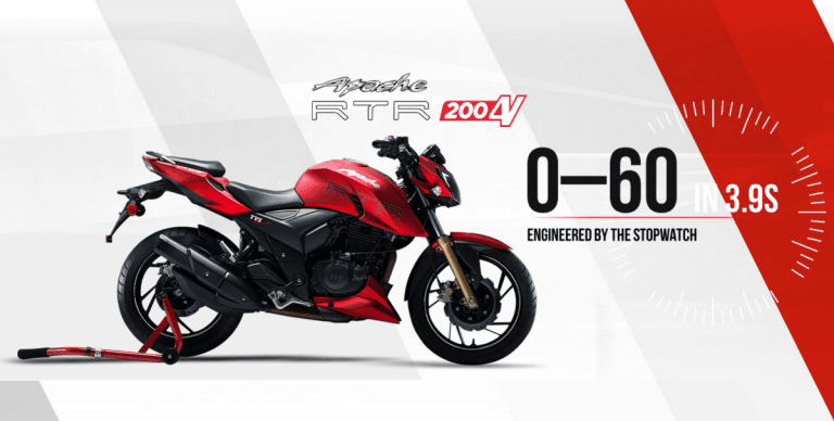 TVS Apache RTR 200 4V Launched! (Prices Start @ INR 88,990)
