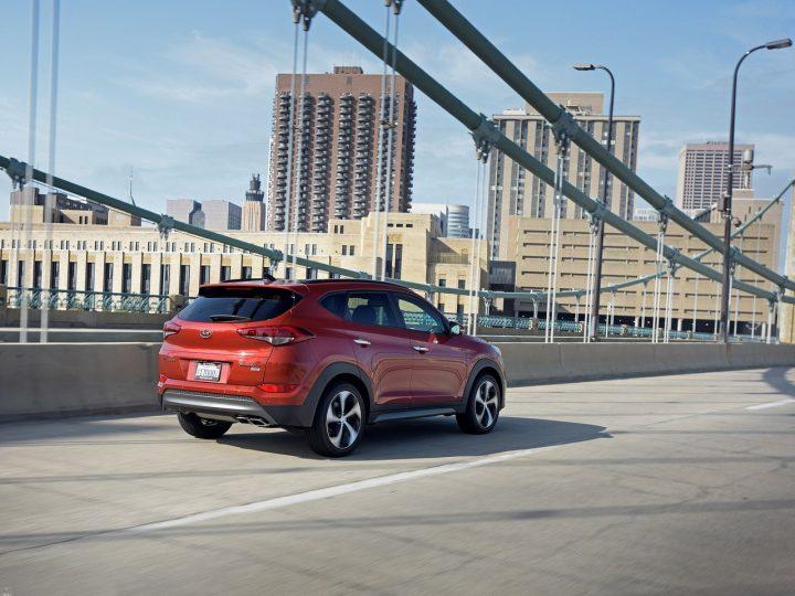 Hyundai Tucson vs Creta Comparison- Price in India, Specifications Hyundai-Tucson rear angle