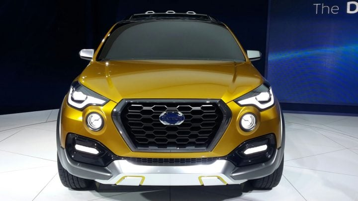 upcoming suvs in india 2017 datsun go cross concept front