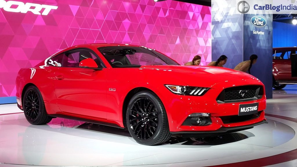 Upcoming New Car Launches India 2016 Ford Mustang Auto Expo