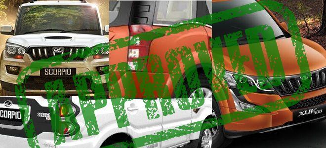 Delhi Diesel Car Ban mahindra scorpio xuv500 get 1.99 l engine