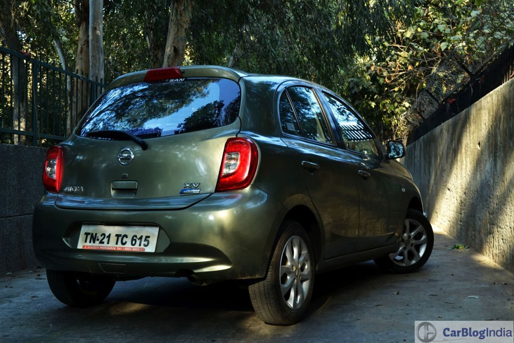 Nissan Micra CVT Review Photos Rear Angle
