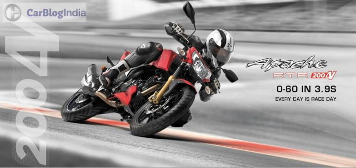 Upcoming Bikes in India in 2017-2018 - TVS Apache RTR 200 4V FI