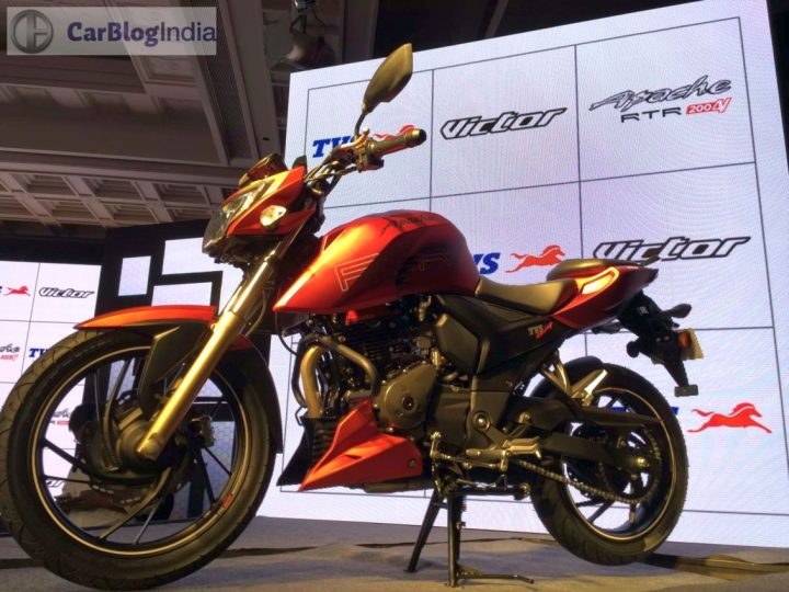 Upcoming New Bikes in India in 2017, 2018 - TVS Apache RTR 200 4V FI