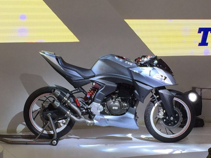 TVS Bikes At Auto Expo 2018 - TVS X21