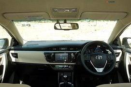 Toyota Corolla Altis Diesel Test Drive Review Photos Interior Dashbaord