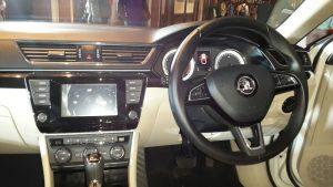 2016 skoda superb india photos interior steering wheel