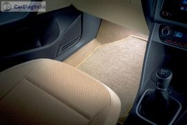 volkswagen ameo launch interior images floor mat