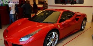 Ferrari 488 GTB India Launch front angle 1