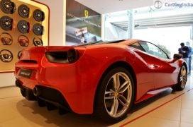 Ferrari 488 GTB India Launch side rear angle 2