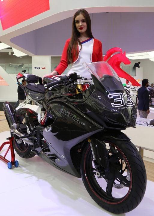 TVS Motor Company unveiled TVS - AKULA 310 at Auto Expo