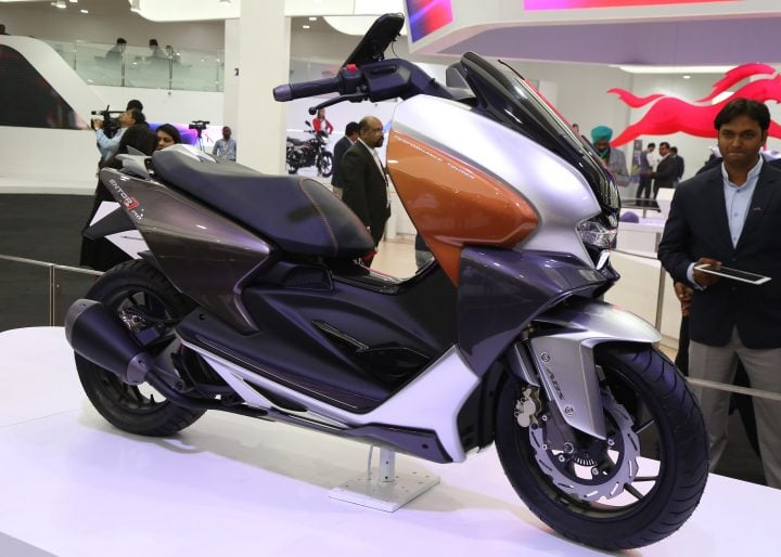 TVS Motor Company unveiled TVS ENTORQ210 at Auto Expo