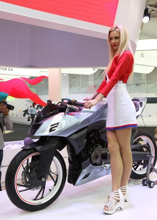 TVS Motor Company unveiled TVS - X21 at Auto Expo