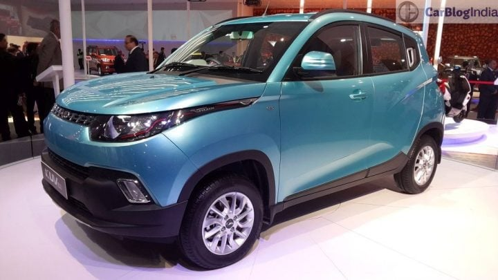 Those sunglasses-like headlamps have to go in the new 2017 Mahindra KUV100