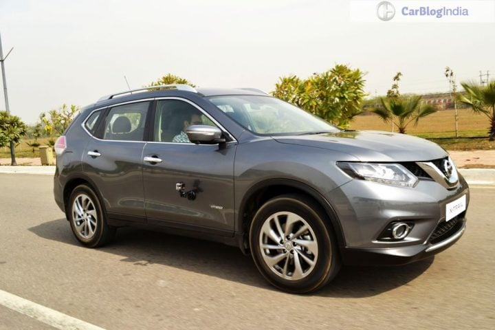 New Upcoming SUV Cars in India 2016 nissan x-trail india grey action shot