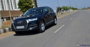 2016 Audi Q7 Review test Drive Action Shot front