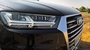 2016 Audi Q7 test drive Review  headlamps