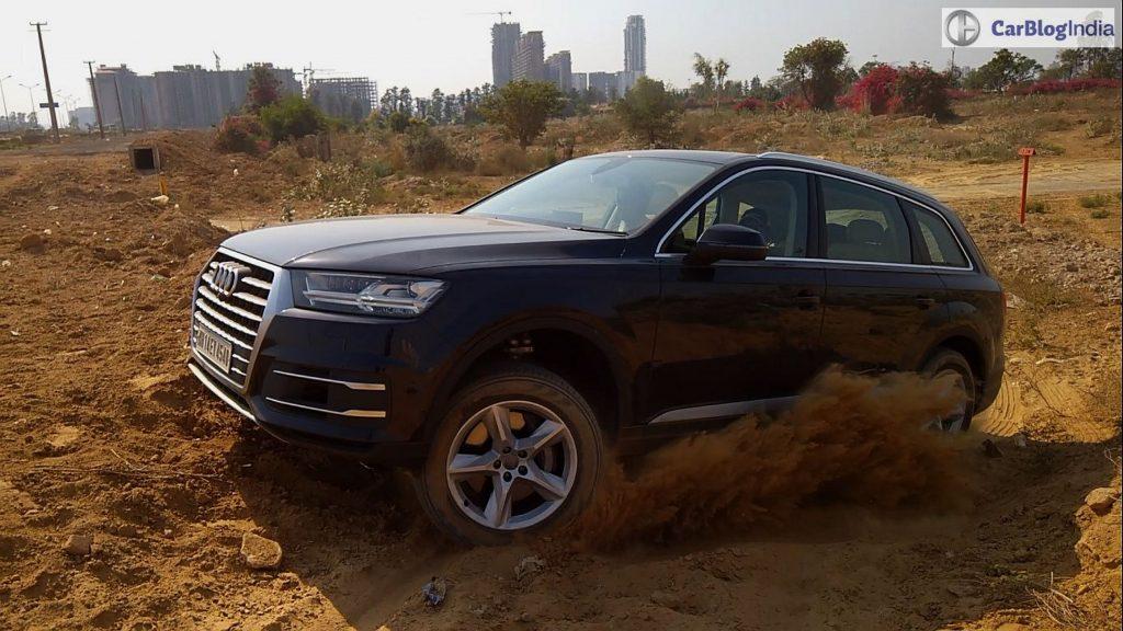 2016 Audi Q7 test drive review mud action