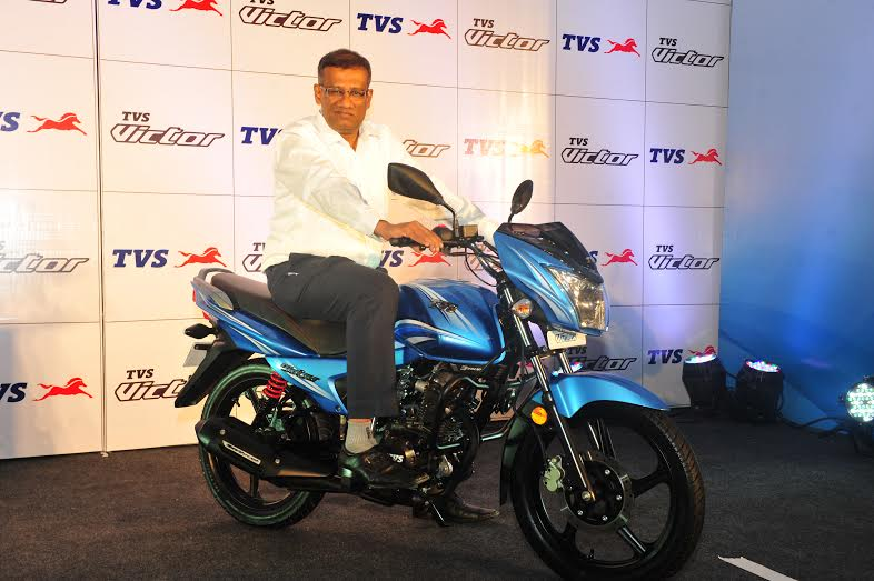 new tvs victor 2016 delhi launch official image