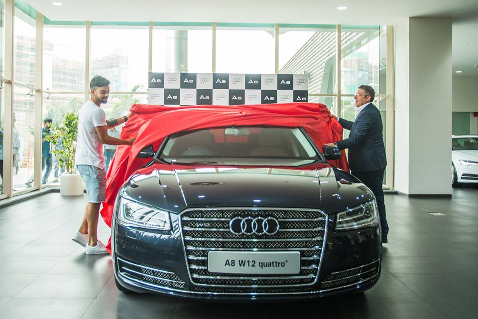 cars of indian cricketers virat kohli audi A8 W12