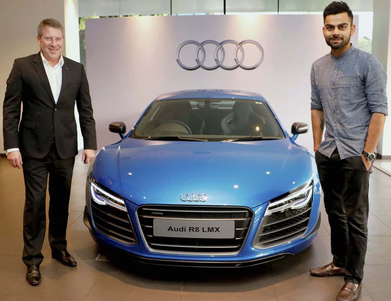 cars of indian cricketers virat kohli audi r8 LMX