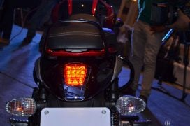 bajaj v15 blac red taillight