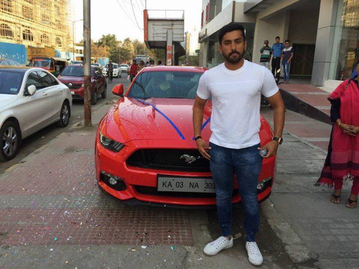 cars of indian cricketers karun nair ford mustang