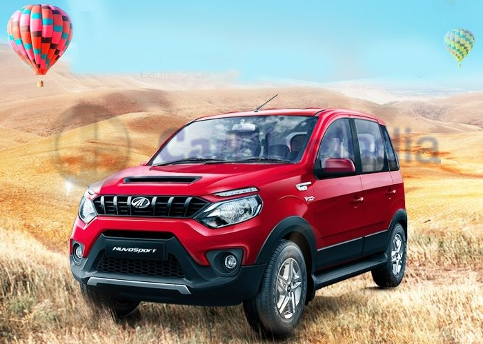 2016 mahindra nuvosport front angle official images red 2