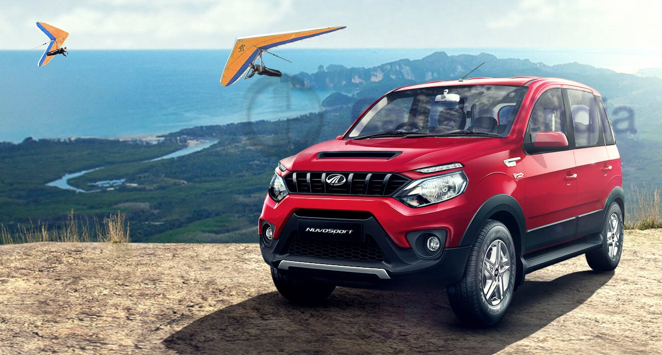 Mahindra Nuvosport Front Angle Official Images Red