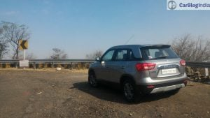 maruti vitara brezza review images rear angle 2