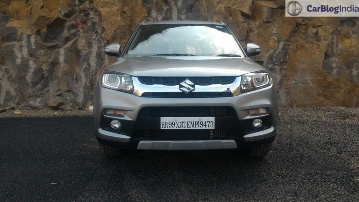 maruti vitara brezza price review images front