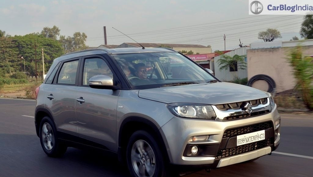 maruti vitara brezza review images front angle motion