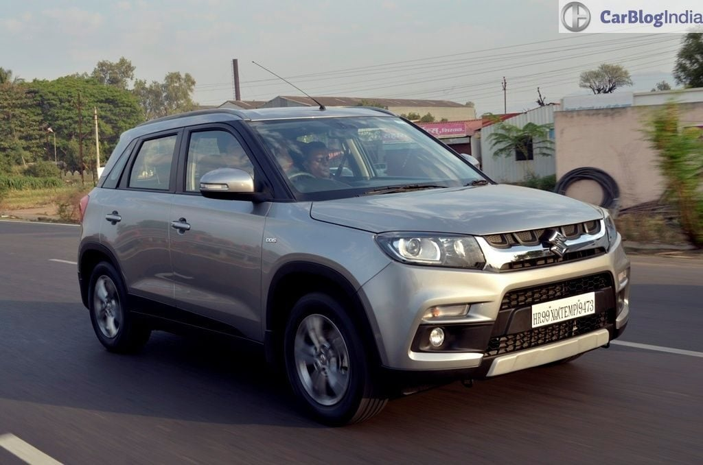 Maruti Vitara Brezza Test Drive Review images front angle motion