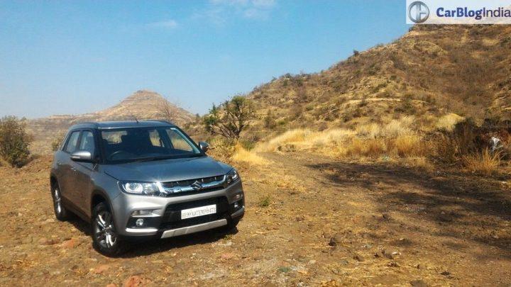 Maruti Vitara Brezza Test Drive Review front angle silver