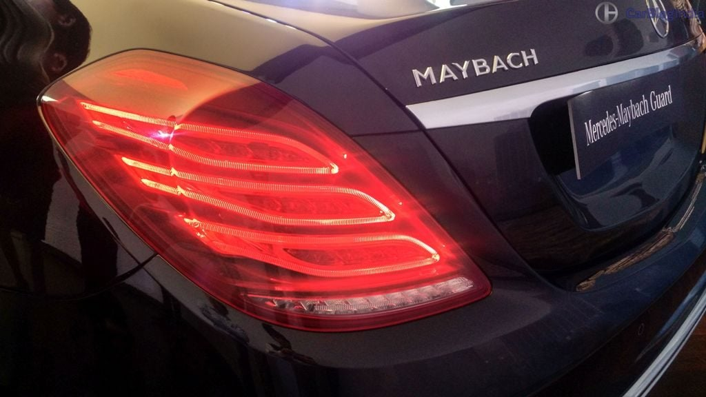 mercedes-maybach s 600 guard india tail light