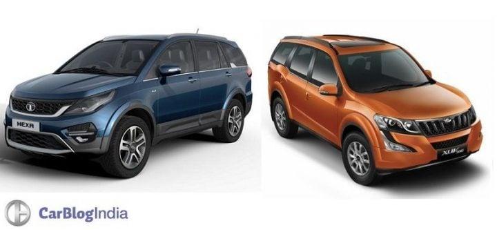 Tata Hexa vs Mahindra XUV500 Comparison Report
