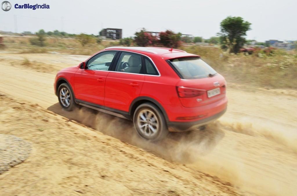 2015 audi q3 test drive review images action shot rear side