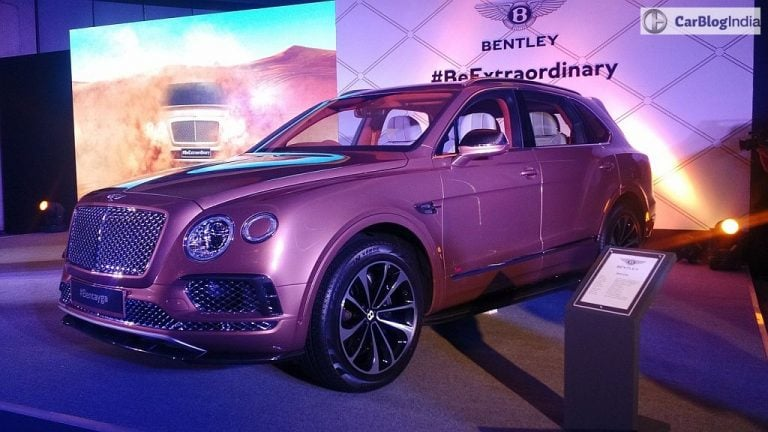 Bentley Bentayga Launched in India at INR 3.85 Crore