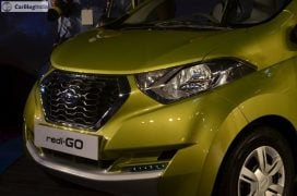 2016 datsun redi go official launch green front close
