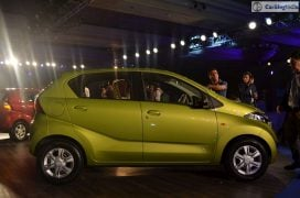2016 datsun redi go official launch green side