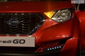 2016 datsun redi go official launch red front headlamp