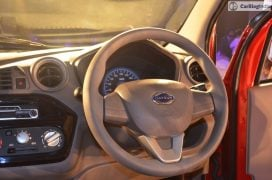 2016 datsun redi go official launch steering wheel