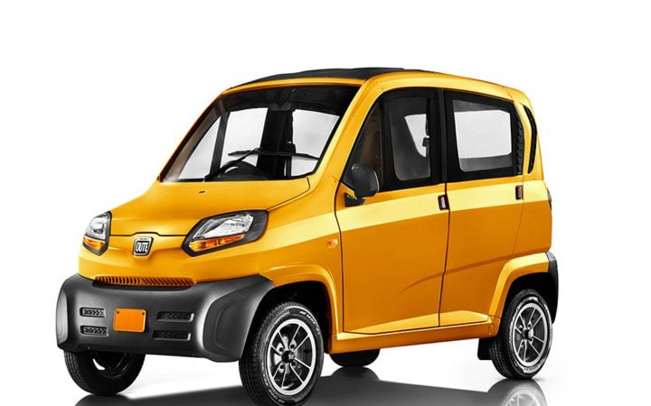 Bajaj Qute Small Car Front Side
