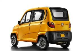 Bajaj Qute Small Car Rear Side