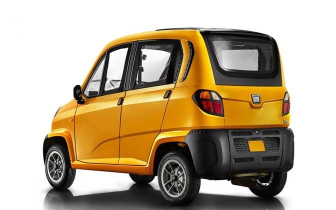 Bajaj Qute Small Car Rear Side