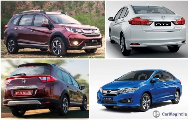 honda brv vs honda city comparison, price, specs, features, design