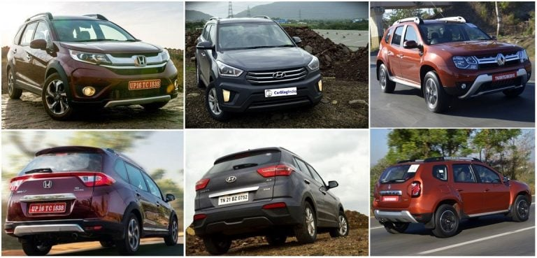 Comparison of new Honda BRV with Hyundai Creta and Renault Duster