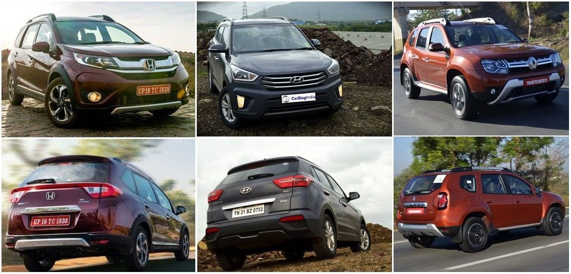 Honda BRV Vs Hyundai Creta Renault Duster Comparison Prices