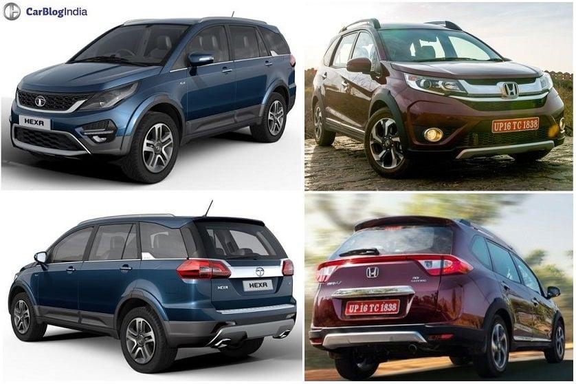 Tata Hexa Vs Honda Brv Comparison Of Price Specs Features Pics