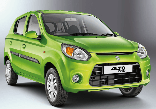 best mileage cars in india -2016 Maruti Alto 800 Green colour front side view